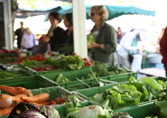 Marktstand in Lörrach
