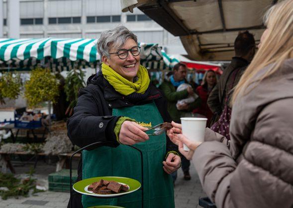 Marktstand in Weil am Rhein